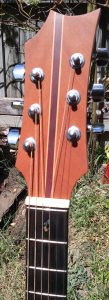 Headstock and inlay mahogany dreadnought acoustic guitar
